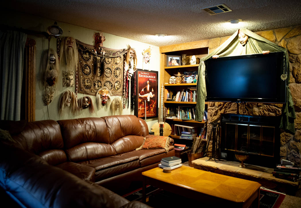 The McBrides' home is filled with the entertainer's stage props and memorabilia. (Tonya Harvey Real Estate Millions)