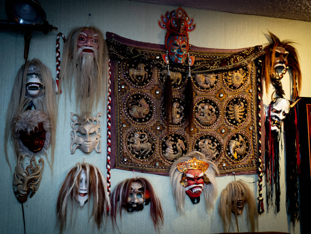 The home has a lot of masks. (Tonya Harvey Real Estate Millions)