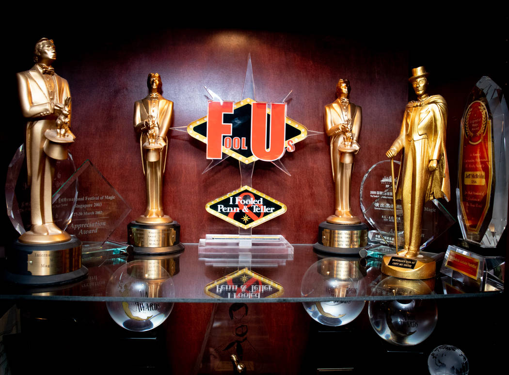 "Jeff McBride earned his ""I fooled Penn & Teller"" trophy in the 2017 season of Penn & Teller ""Fool Us"" series. (Tonya Harvey Real Estate Millions)"