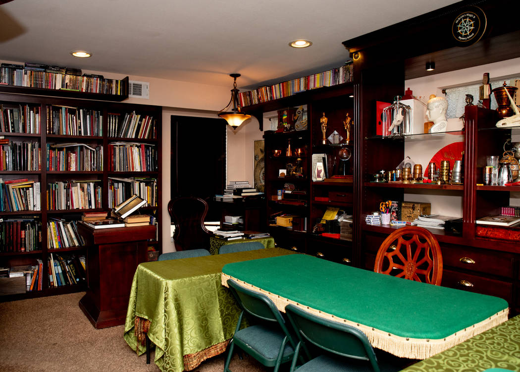 Jeff and Abigail McBride built a secret library in their eastside home. Jeff McBride teaches magic classes there. (Tonya Harvey Real Estate Millions)