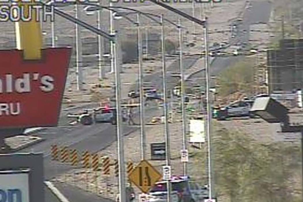 Las Vegas police are investigating an incident at South Rainbow Boulevard and Blue Diamond Road. (RTC)