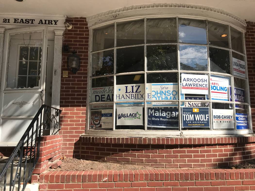 The Montgomery County Democratic Party headquarters across the street from the courthouse is busy with campaign activity. Hillary Clinton won 59 percent of the vote in the county in 2016, and Demo ...