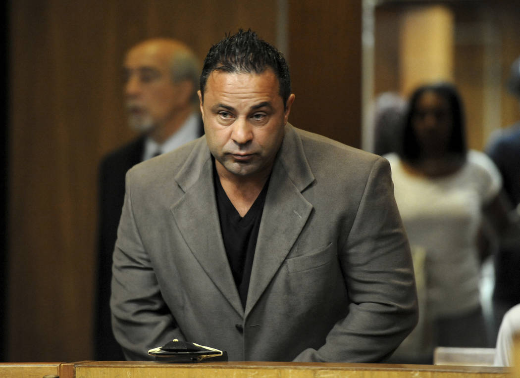 "In this June 2, 2014 file photo, Giuseppe ""Joe"" Giudice, the husband of ""The Real Housewives of New Jersey"" star Teresa Giudice, appears in Superior Court in Paterson, N.J. (AP Photo/The Record of ..."