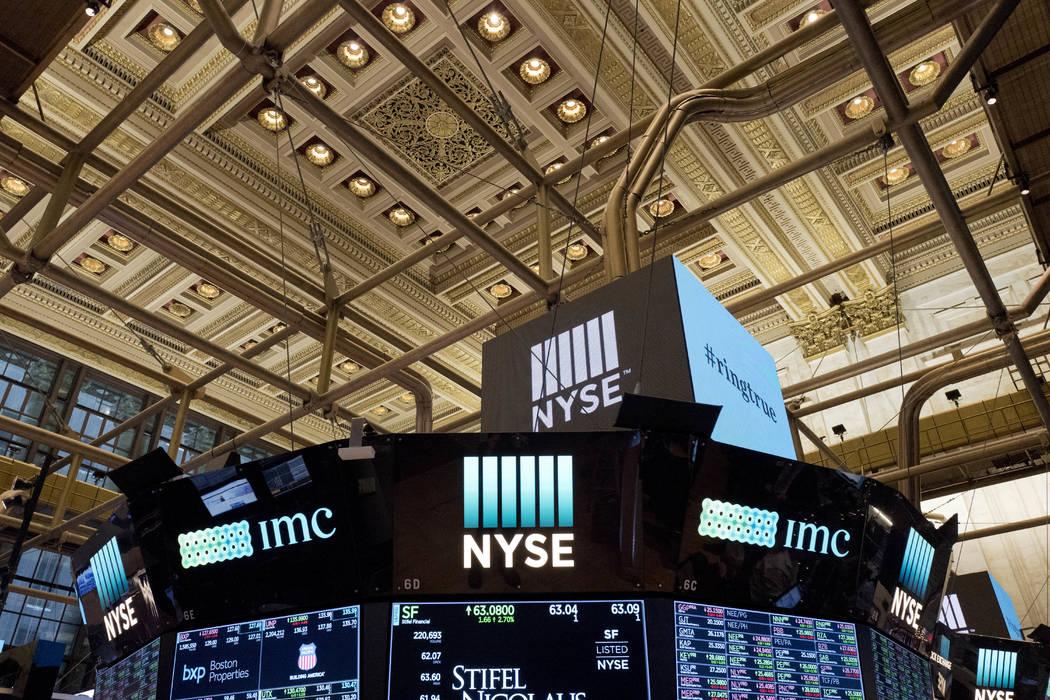 Photo shows the interior of the New York Stock Exchange, Jan. 4, 2018. (AP Photo/Mark Lennihan, File)