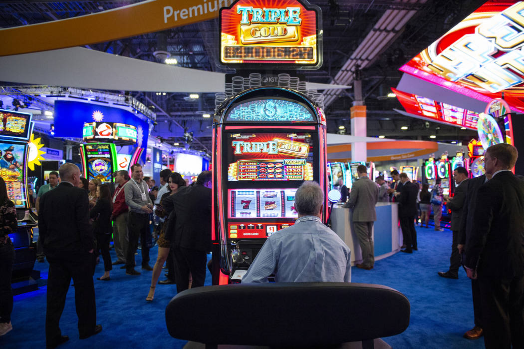 About 30,000 people are in attendance at the 18th annual Global Gaming Expo at Sands Expo and Convention Center in Las Vegas, Wednesday, Oct. 10, 2018. Caroline Brehman/Las Vegas Review-Journal @c ...