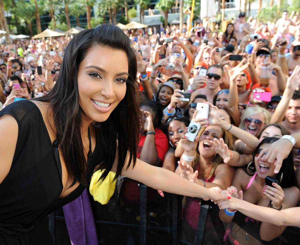 LAS VEGAS, NV - JUNE 03: Kim Kardashian hosts Hard Rock Hotel's hottest party - Rehab Sundays at Hard Rock Hotel and Casino on June 3, 2012 in Las Vegas, Nevada. (Photo by Denise Truscello/WireI ...