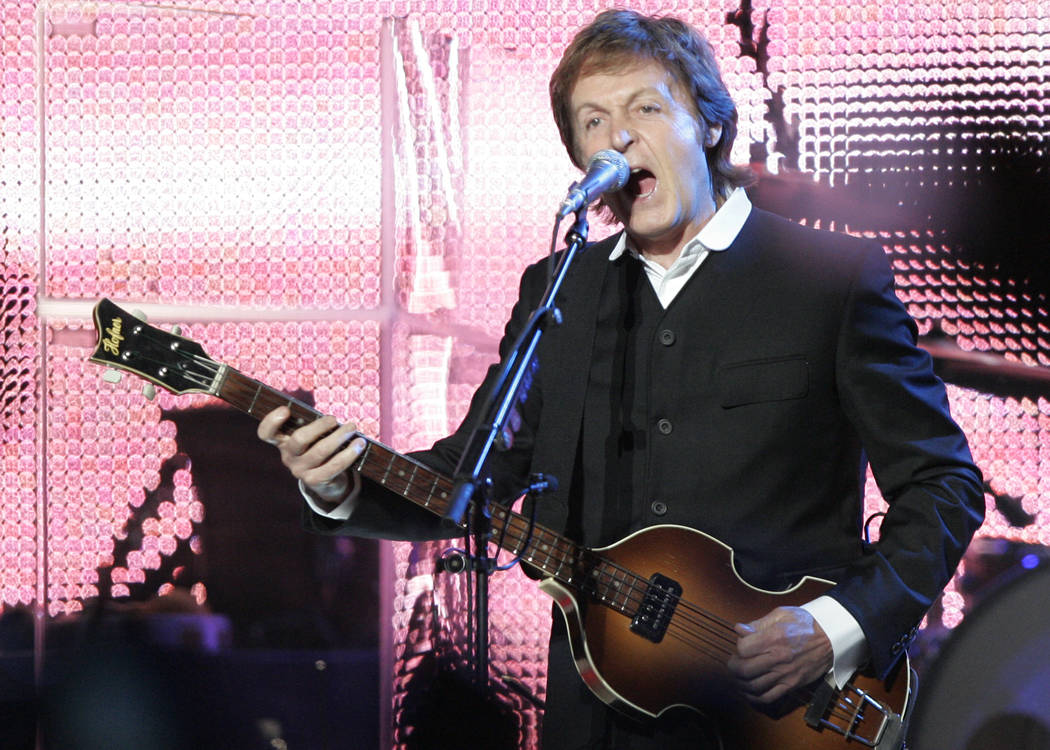 Legendary rocker Paul McCartney performs at the newly refurbished The Joint concert venue inside the Hard Rock hotel-casino on Sunday, April 19, 2009, in Las Vegas. DUANE PROKOP / LAS VEGAS ...