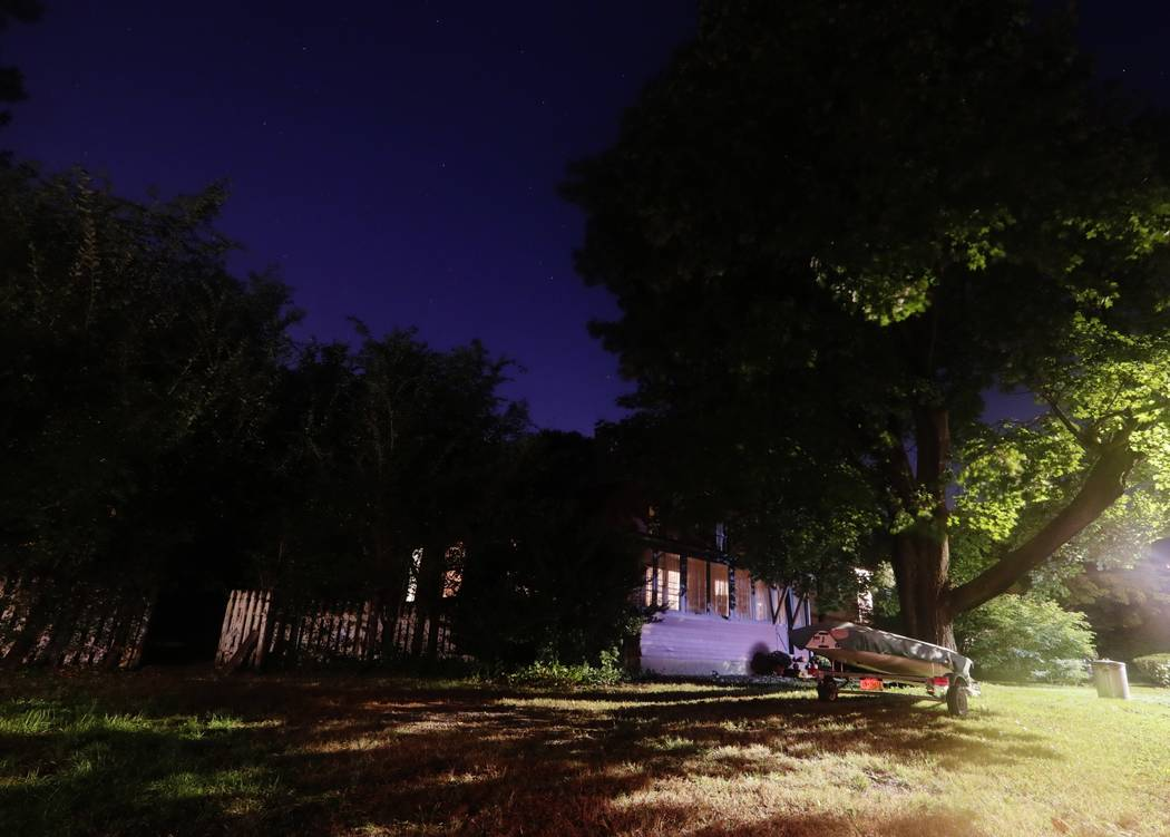The home of Paul Rosenfeld is shown Wednesday, Oct. 10, 2018, in Tappan, N.Y. Federal authorities have charged Rosenfeld with building a 200-pound (90-kilogram) bomb that he planned to detonate on ...