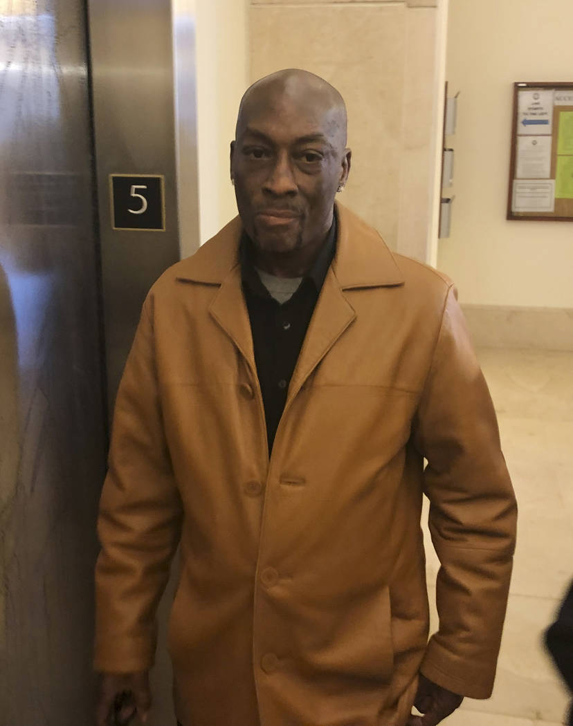 Plaintiff DeWayne Johnson, a school groundskeeper who says Roundup weed-killer caused his cancer, leaves a courtroom in San Francisco, Wednesday, Oct. 10, 2018. A San Francisco judge said in a ten ...