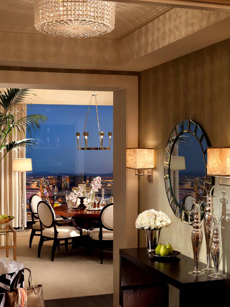 A one-bedroom penthouse in Trump International Las Vegas on the Las Vegas Strip. (Trump International Las Vegas)