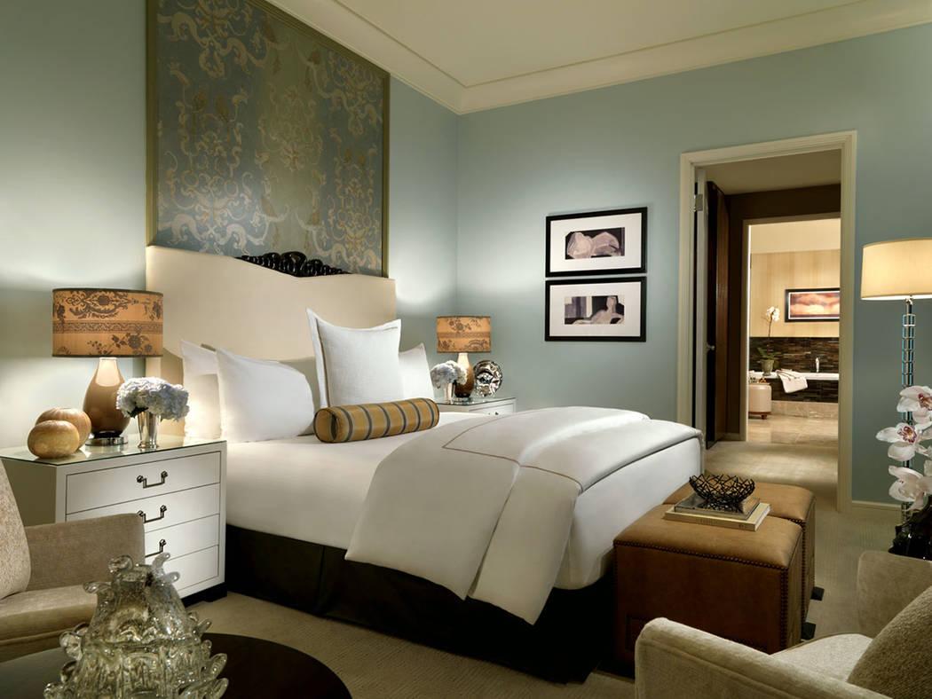 A second bedroom in the two-bedroom penthouse at Trump International Las Vegas. (Trump International Las Vegas)