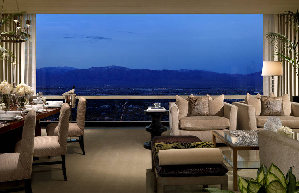 Views of the mountains from the three-bedroom penthouse at Trump International Las Vegas. (Trump International Las Vegas)