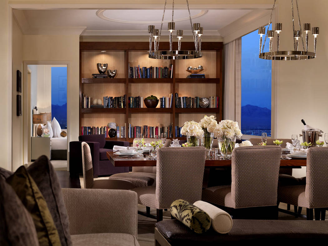 The dining room in the three-bedroom penthouse at Trump International Las Vegas. (Trump International Las Vegas)