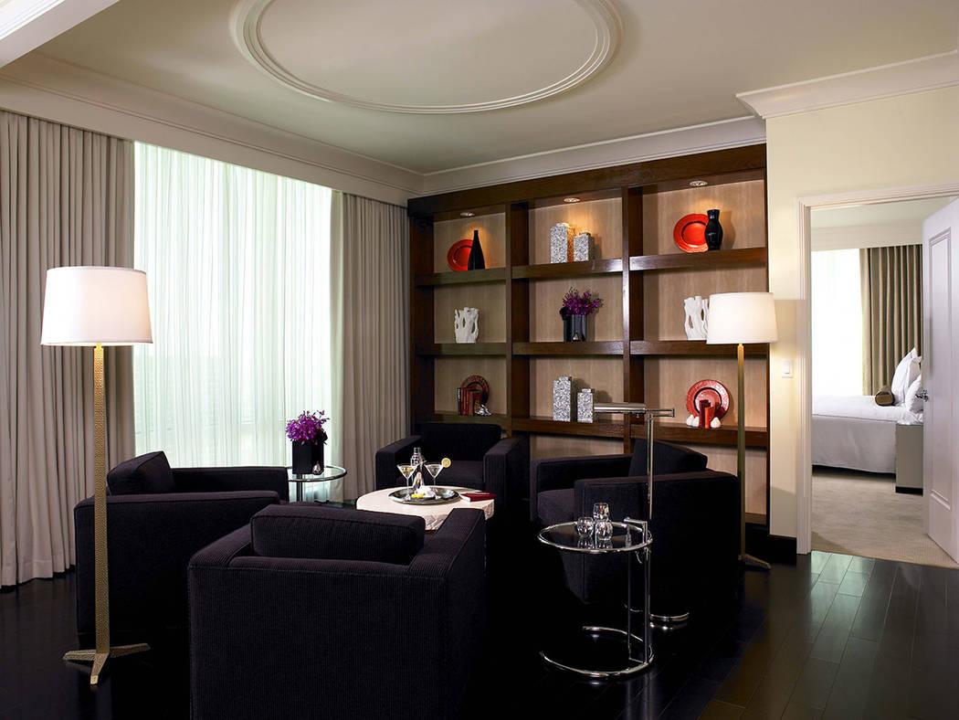 A sitting area in the three-bedroom penthouse at Trump International Las Vegas. (Trump International Las Vegas)
