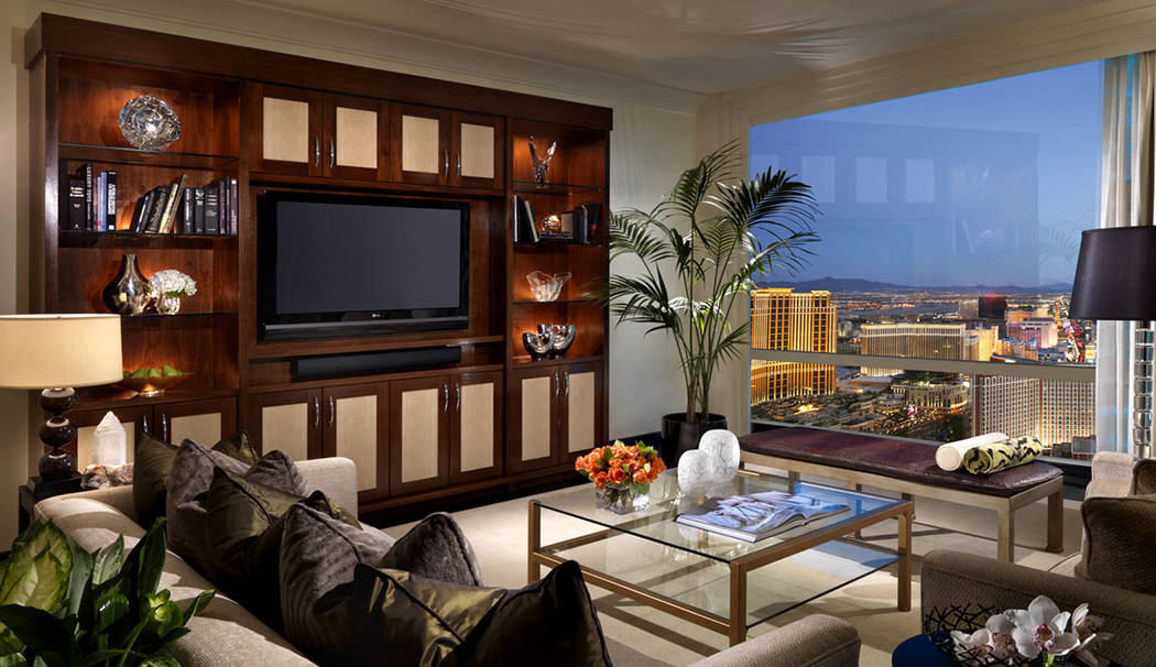 This two-bedroom penthouse at Trump International Las Vegas is listed for $1.8M. (Trump International Las Vegas)