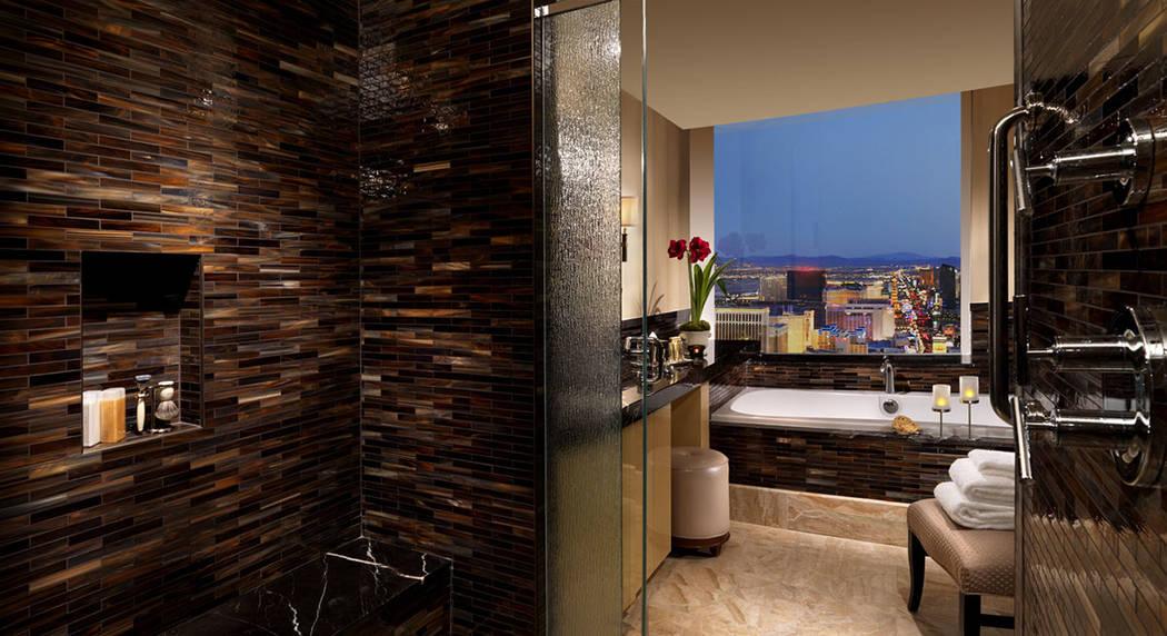 The three-bedroom penthouse at Trump International Las Vegas has views of the Las Vegas Strip. (Trump International Las Vegas)