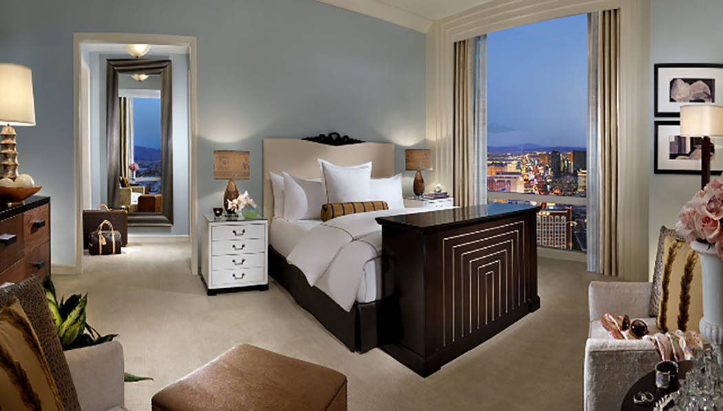 This Trump International Las Vegas penthouse has three bedrooms and measures 3,080 square feet. (Trump International Las Vegas)