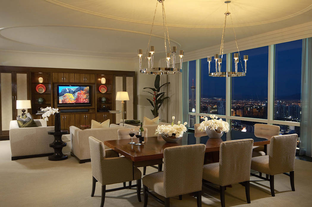 This three-bedroom penthouse at Trump International Las Vegas is listed for $3M. (Trump International Las Vegas)