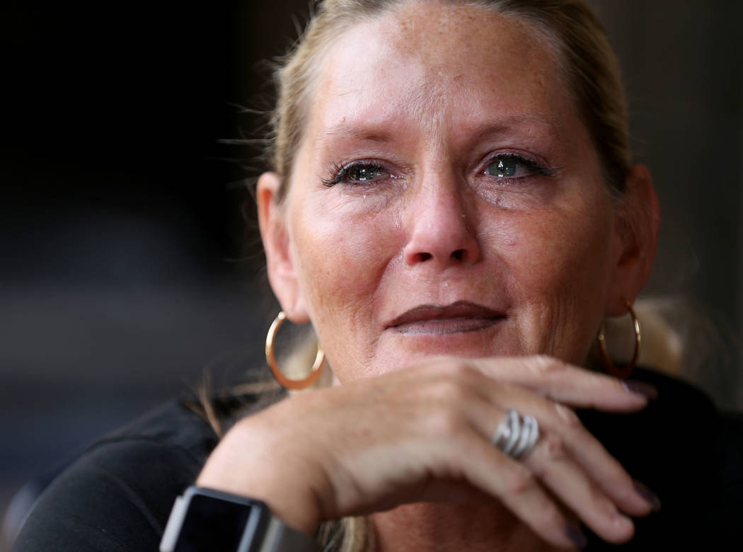 Connie Land talks about the unsolved murders of her daughter Sydney Land and Sydney's boyfriend, Nehemiah ÒNeoÓ Kauffman during an interview at the Las Vegas Review-Journal offices Wedne ...