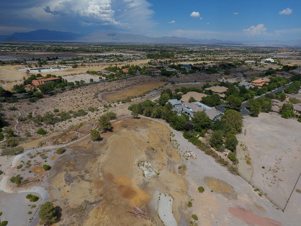 Aerial view of the former Badlands golf course as seen from Hualapai Way in Summerlin on Thursday, July 19, 2018. Michael Quine / Las Vegas review-Journal @Vegas88s