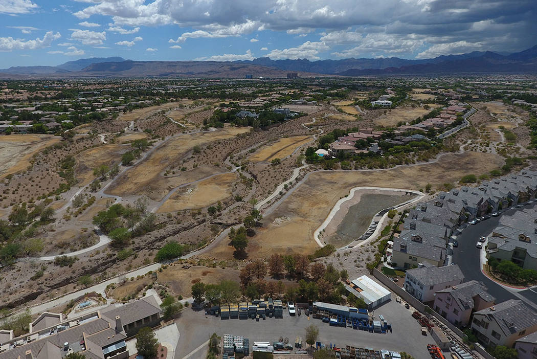 Aerial view of the former Badlands golf course as seen from Alta Drive in Summerlin on Thursday, July 19, 2018. Michael Quine / Las Vegas review-Journal @Vegas88s