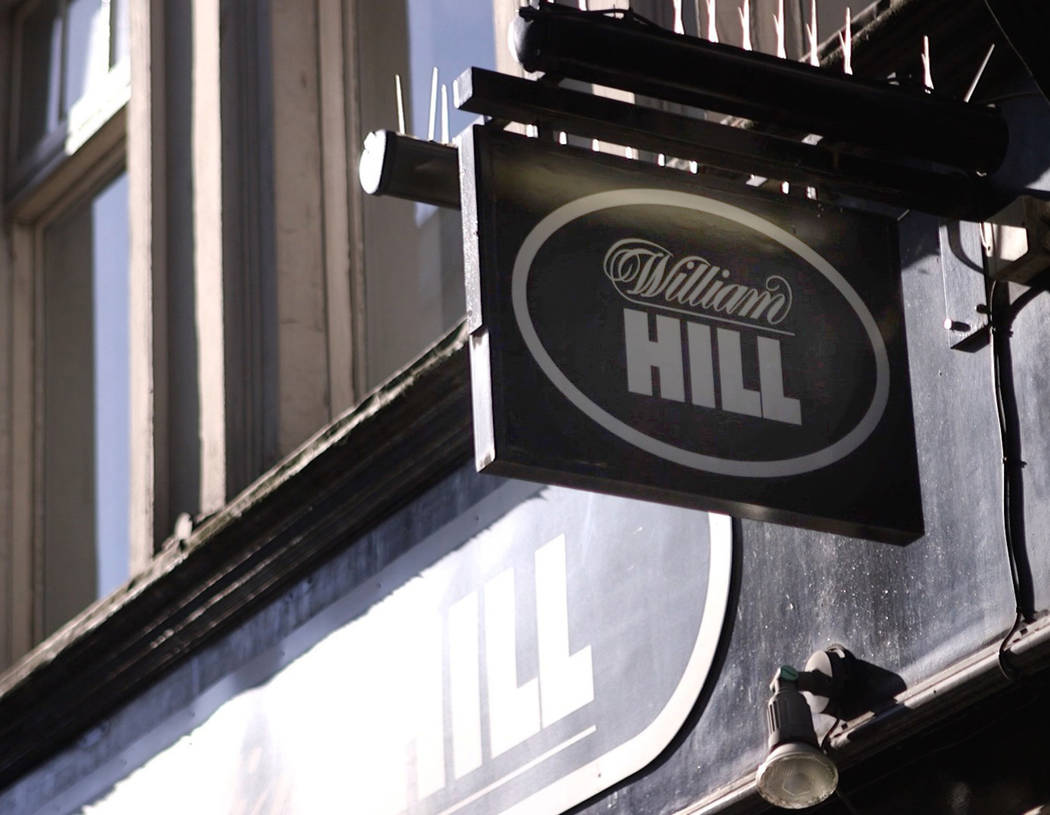 One of the William Hill sports books on Tottenham Court Road in London, England, Saturday, Oct. 13, 2018. The company was established in 1934 when gambling was illegal. Heidi Fang Las Vegas Review ...