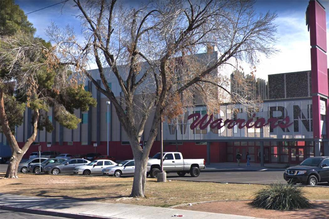Western High School in Las Vegas (Google Street View)