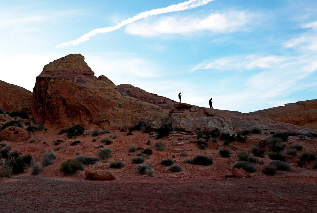 People soak in the view at the Valley of Fire State Park on Sunday in Overton, Nevada, Feb. 4, 2018. Andrea Cornejo Las Vegas Review-Journal @DreaCornejo