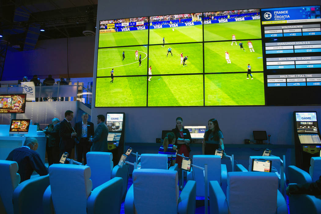 Scientific Games showcases OpenBet, a sports betting technology that offers a one-stop sports portfolio including sports betting, retail terminus, mobile betting and managed trading services at th ...