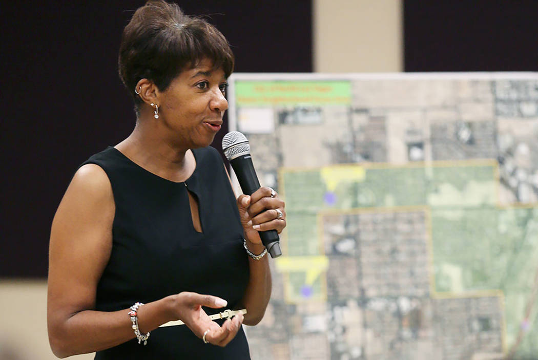North Las Vegas Councilwoman Pamela Goynes-Brown, seen in 2015. (Las Vegas Review-Journal)
