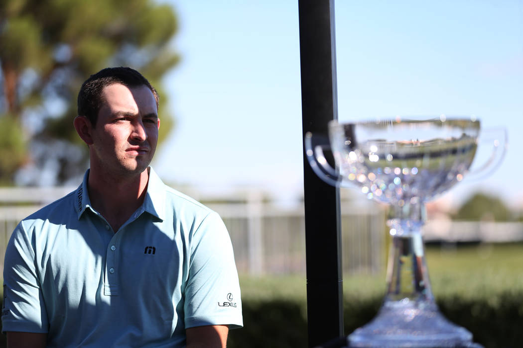 Defending champion Patrick Cantlay during the Shriners Hospitals for Children Open media day at TPC Summerlin golf course in Las Vegas, Friday, Oct. 12, 2018. Erik Verduzco Las Vegas Review-Journa ...
