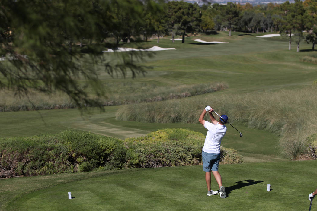 A person plays at the TPC Summerlin golf course in Las Vegas, Friday, Oct. 12, 2018. Erik Verduzco Las Vegas Review-Journal @Erik_Verduzco