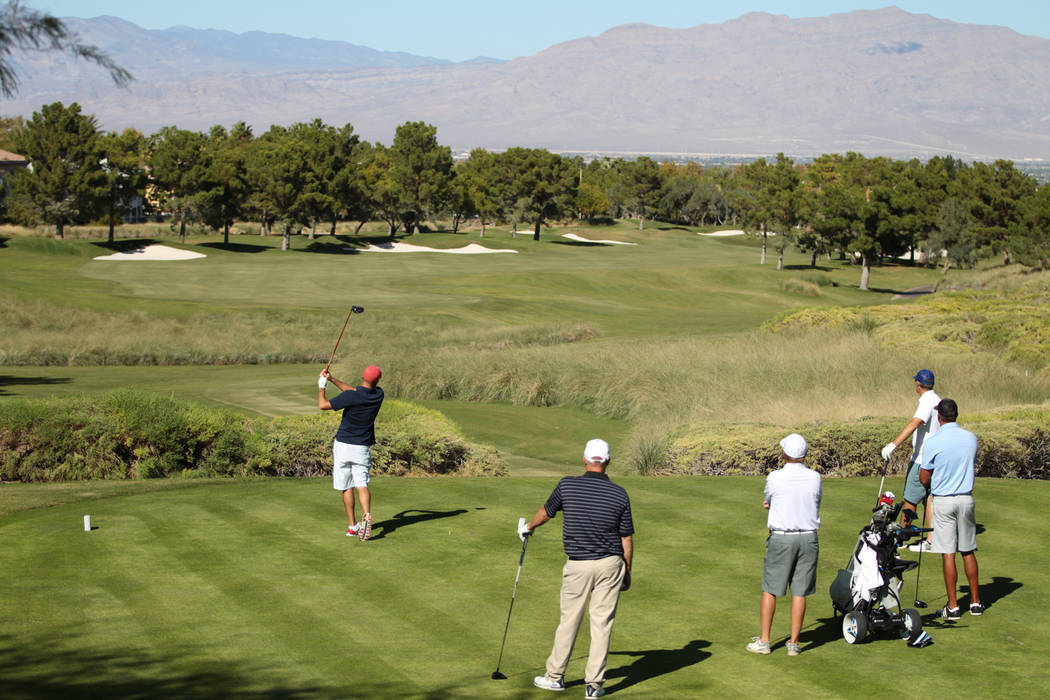 People play at the TPC Summerlin golf course in Las Vegas, Friday, Oct. 12, 2018. Erik Verduzco Las Vegas Review-Journal @Erik_Verduzco