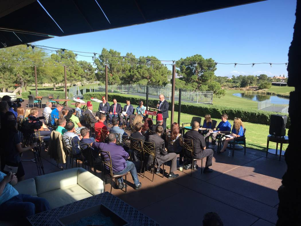 Shriners Hospital for Children Open media day at TPC Summerlin. (Brian Hurlburt/Las Vegaas Review-Journal)