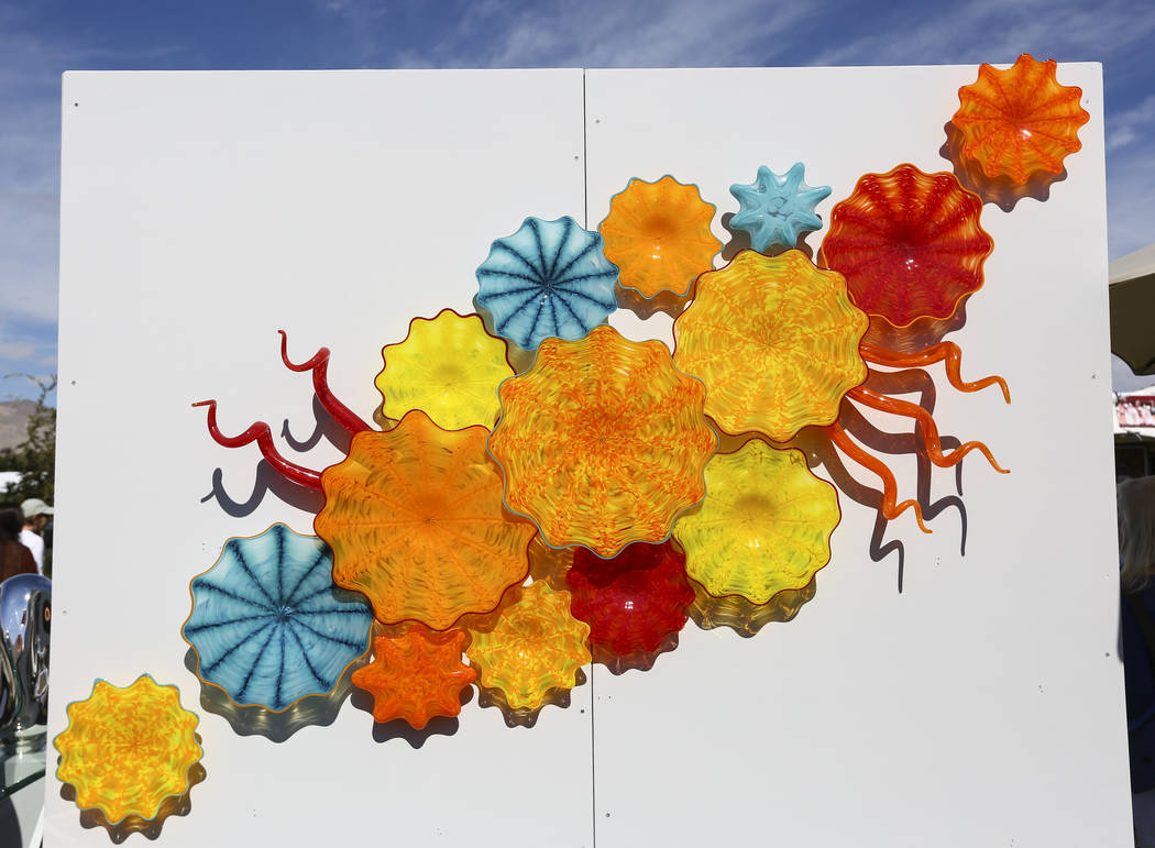 An art piece by glass artist Michael Panetta of Laguna Beach, Calif., on display during the 23rd annual Summerlin Festival of Arts at Downtown Summerlin in Las Vegas on Saturday, Oct. 13, 2018. Ch ...
