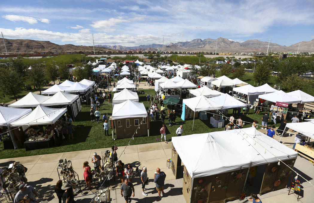 A view of the 23rd annual Summerlin Festival of Arts at Downtown Summerlin in Las Vegas on Saturday, Oct. 13, 2018. Chase Stevens Las Vegas Review-Journal @csstevensphoto