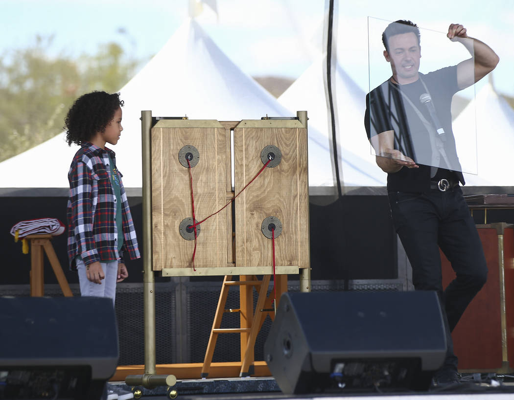 Illusionist David Goldrake performs during the 23rd annual Summerlin Festival of Arts at Downtown Summerlin in Las Vegas on Saturday, Oct. 13, 2018. Chase Stevens Las Vegas Review-Journal @cssteve ...