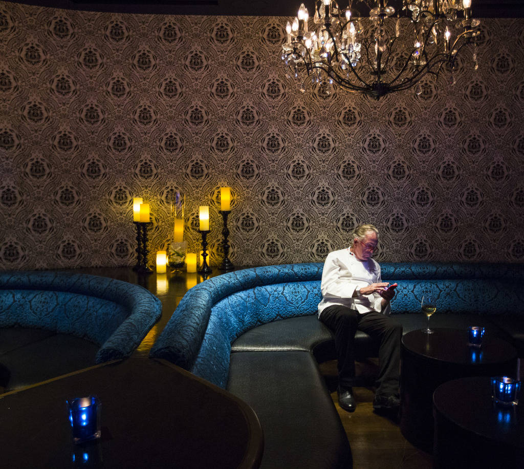 Chef Jeremiah Tower during the James Beard Foundation's Celebrity Chef tour dinner series at the Velvet Room at Luxor in Las Vegas on Saturday, Oct. 13, 2018. Chase Stevens Las Vegas Review-Journa ...