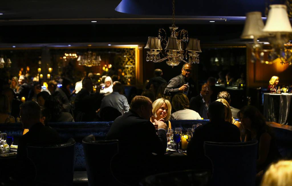 Attendees at the James Beard Foundation's Celebrity Chef tour dinner series at the Velvet Room at Luxor in Las Vegas on Saturday, Oct. 13, 2018. Chase Stevens Las Vegas Review-Journal @csstevensphoto