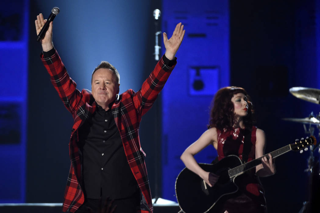 "James Kerr of Simple Minds performs a tribute to the 30th anniversary of ""The Breakfast Club"" at the Billboard Music Awards at the MGM Grand Garden Arena on Sunday, May 17, 2015, in ..."