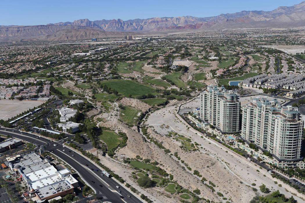 Aerial view of former Badlands golf course. Brett Le Blanc/Las Vegas Review-Journal Follow @bleblancphoto
