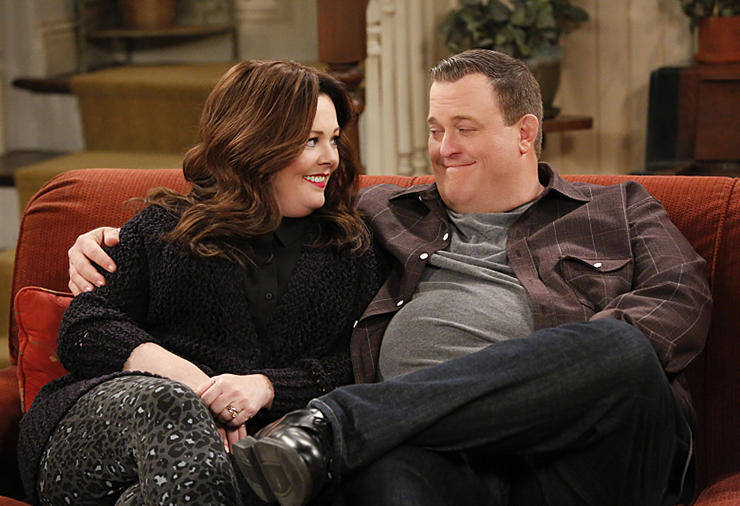 """Mike & Molly"" stars Melissa McCarthy as Molly and Billy Gardell as Mike in the final season of the sitcom."