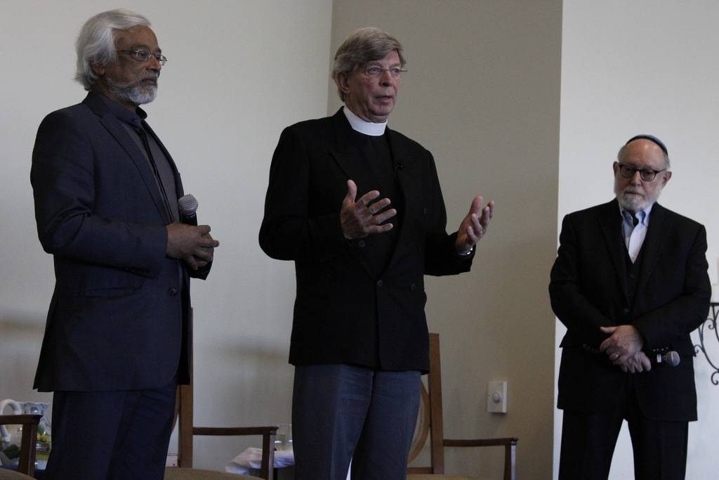 The Interfaith Amigos, a combined-faith religious group, travel nationwide giving presentations on religious inclusivity. They presented at Bishop Gorman High School on Sunday.