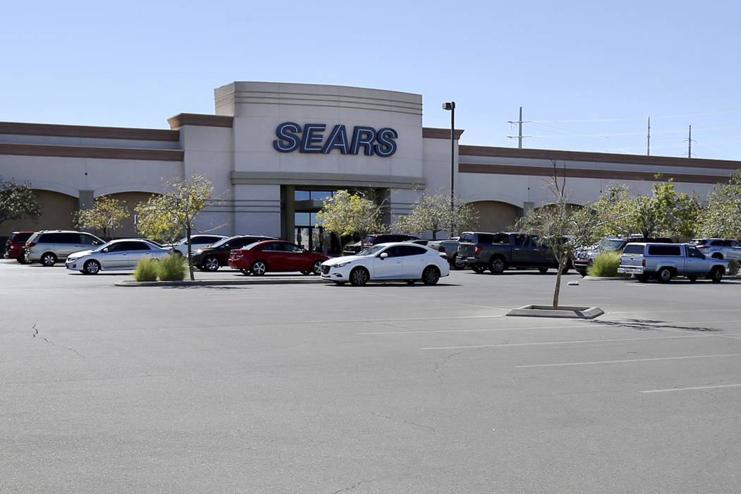 Sears department store at Marks Street and Warm Springs Road, shown Monday, Oct. 15, 2018, is one of 142 locations identified by the company as closing during the companyÕs chapter 11 bankrup ...