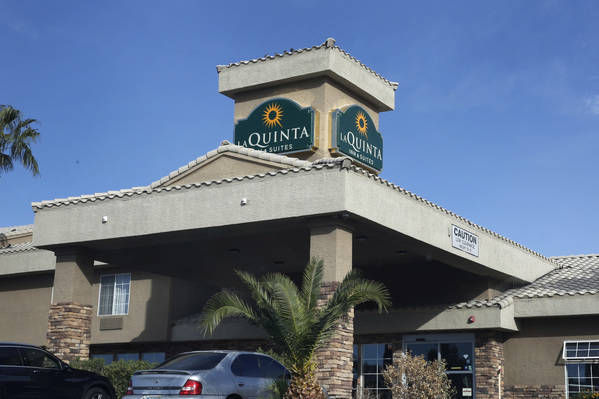 La Quinta Inn and Suites at 4975 S Valley View Blvd, photographed on Tuesday, Oct. 16, 2018, in Las Vegas. Bizuayehu Tesfaye/Las Vegas Review-Journal @bizutesfaye
