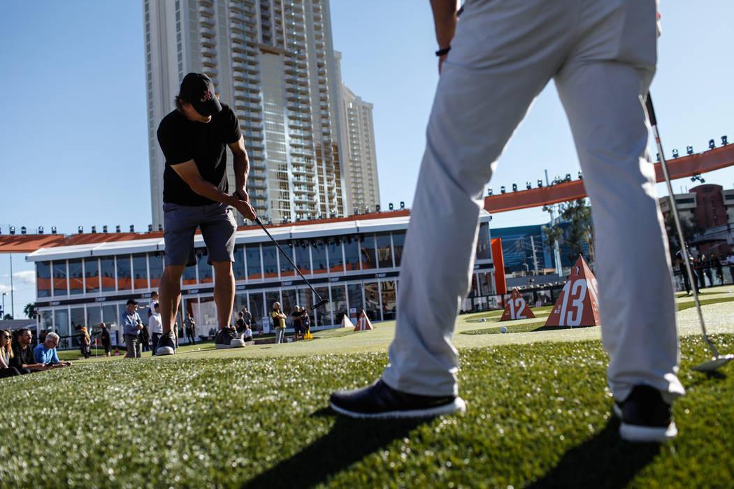 Jeff Gibralter competes during the High Roller Invitational at the Major Series of Putting in Las Vegas, Sunday, Nov. 5, 2017. Joel Angel Juarez Las Vegas Review-Journal @jajuarezphoto