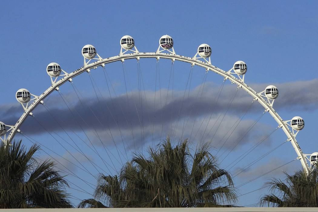 The High Roller at The Linq on the Las Vegas Strip. (Bizuayehu Tesfaye/Las Vegas Review-Journal) @bizutesfaye