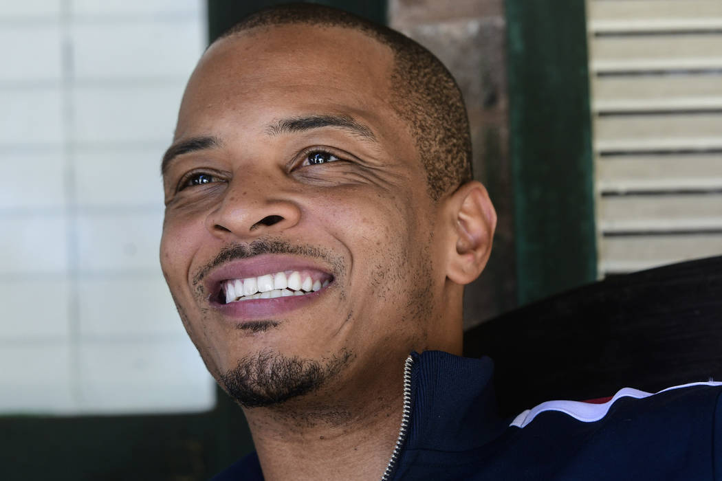 In this Sept. 14, 2018, file photo shows rapper Clifford Harris Jr., better known as T.I., on the porch of his grandparents' home where he grew up in Atlanta. A Melania Trump spokeswoman is asking ...