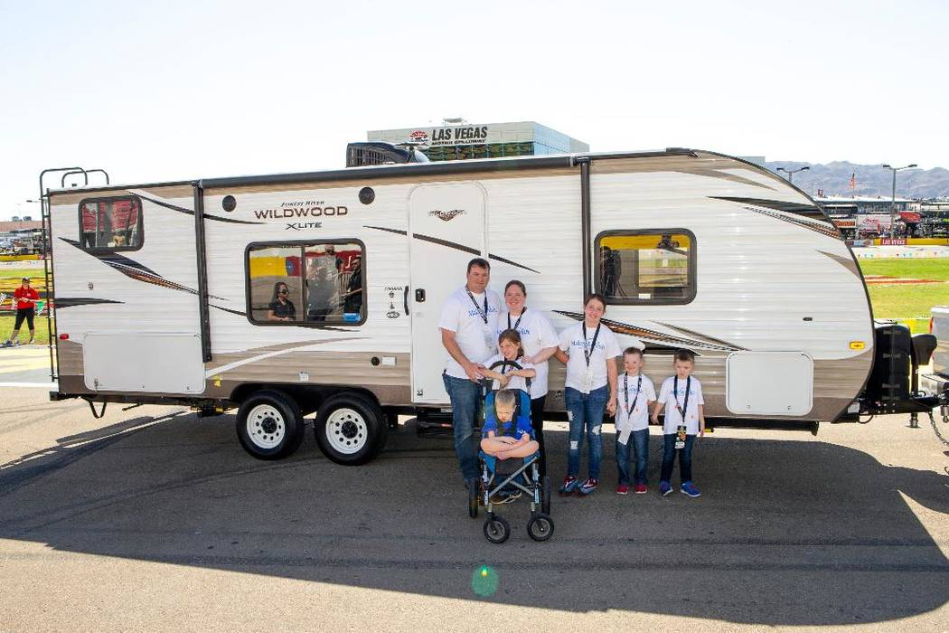 The Stacey family of Las Vegas was the recipient of a 27-foot travel trailer thanks to Findlay RV, Findlay Management, Findlay Toyota and Make-A-Wish Southern Nevada. Findlay RV will host a sales ...