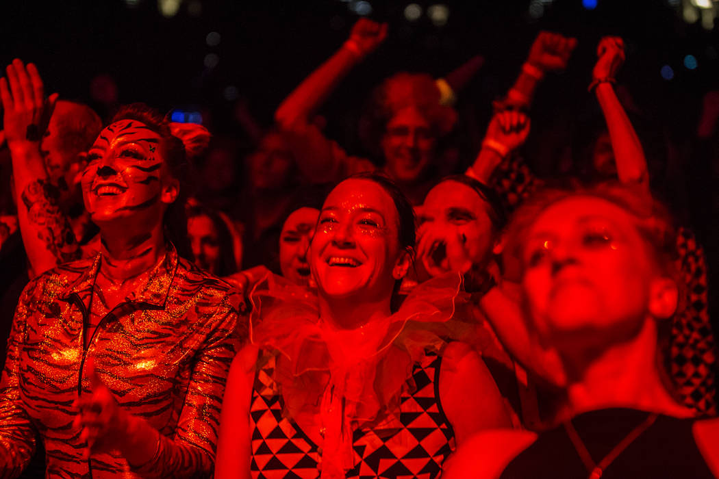 Fans cheers as Phish performs their first song of the night during their Halloween show at the MGM Grand Garden Arena on Monday, Oct. 31, 2016, in Las Vegas. Benjamin Hager/Las Vegas Review-Journal